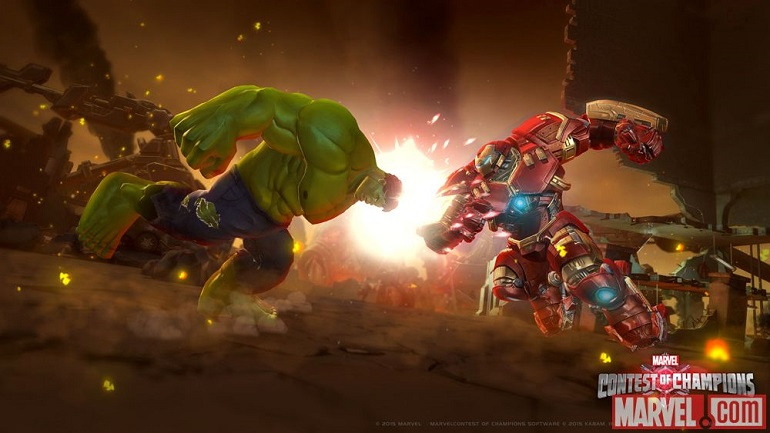 É possível recriar o confronto entre a Hulkbuster e o Hulk, em Torneio dos Campeões.