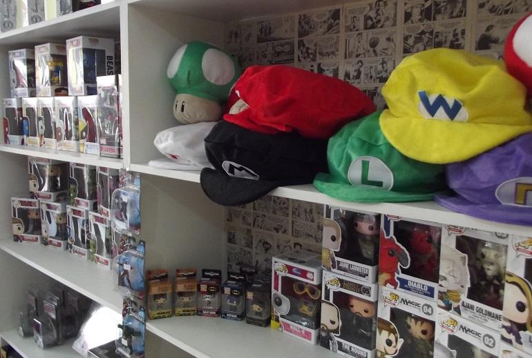 Há bonecos Pop! das mais diversas franquias. (Foto: Henrique de Almeida Oliveira)