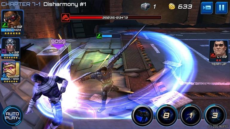 Marvel Future Fight tem potencial para várias horas de jogo.