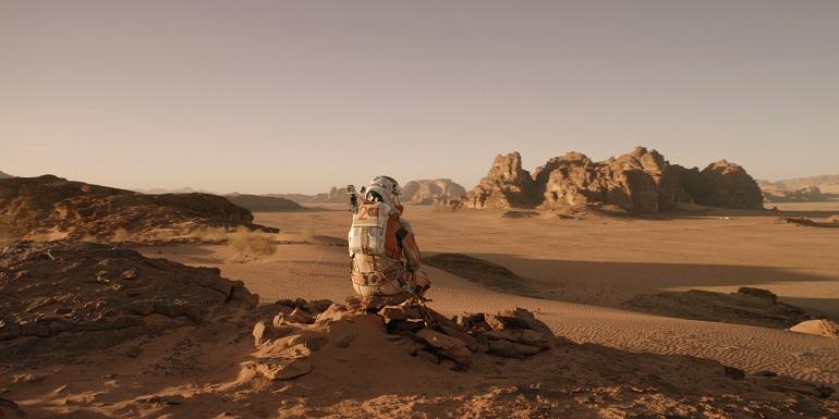 Matt Damon quase não tem com quem contracenar em Perdido em Marte.