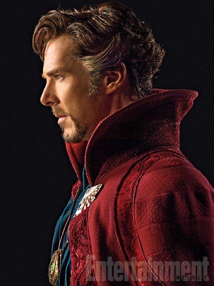 A primeira foto de Benedict Cumberbatch como Doutor Estranho.