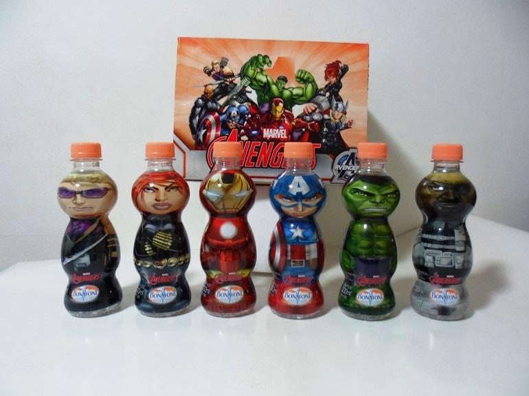 Garrafas d'água Bonafont Vingadores Avengers