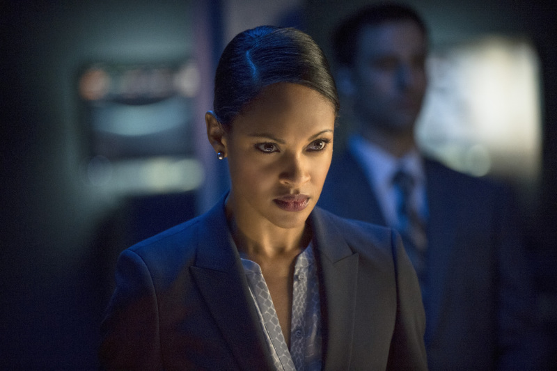 "Arrow -- ""Unthinkable"" -- Image AR223a_ 0327b-- Pictured: Cynthia Addai-Robinson as Amanda Waller -- Photo: Cate Cameron/The CW -- © 2014 The CW Network, LLC. All Rights Reserved."
