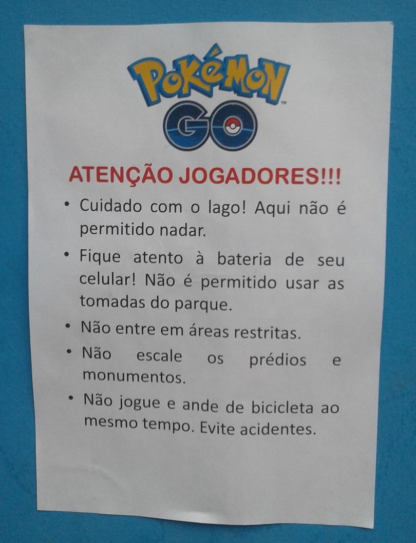 Além de não disponibilizar grande quantidade de Dratinis, o Parque do Ibirapuera não compartilha suas tomadas com quem joga Pokémon GO...