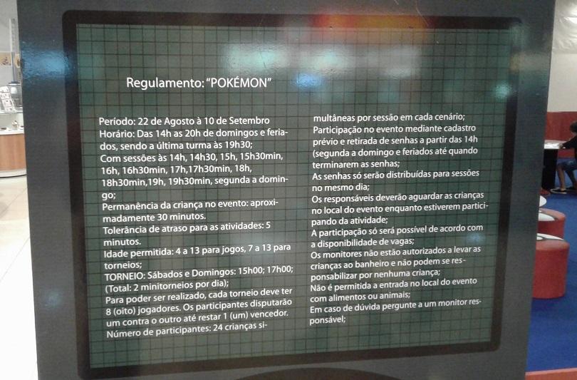 Confira as regras e horários normas do torneio de Pokémon Trading Card Game.