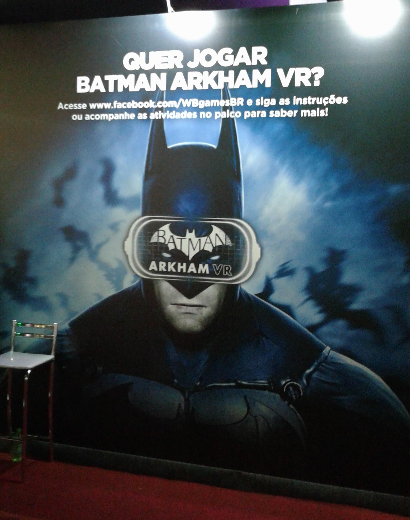 Sem dúvida, Batman: Arkham VR é a principal atração da Brasil Game Show 2016.