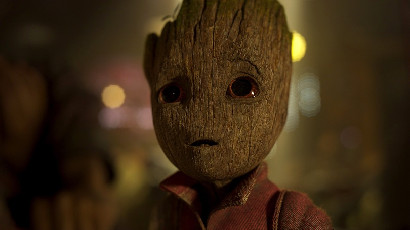 Coloque o seu walkman para tocar, pois Peter Quill, Gamora, Rocket, Drax e Baby Groot desembarcam da nave Milano para Guardiões da Galáxia Vol. 2! (Foto: Marvel)