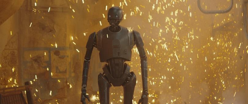 Com um humor peculiar, o dróide K-2SO deve conquistar o público. (Foto: Lucasfilm)