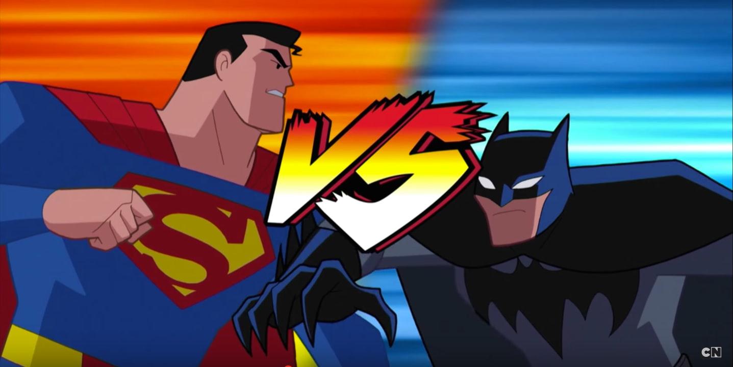 O Filho de Krypton contra o Morcego de Gotham! (Foto: Cartoon Network)