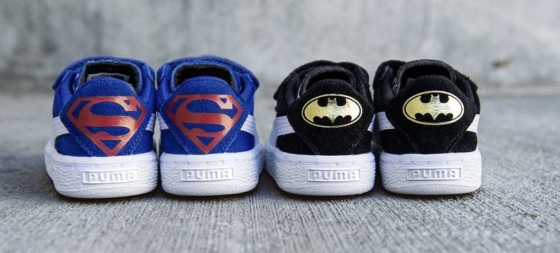 Agora, Batman e Superman irão disputar a sua preferência nos calçados. (Foto: Divulgação/PUMA)