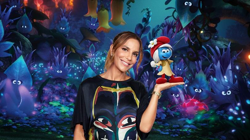 Vai assistir Os Smurfs e A Vila Perdida? A versão dublada traz Ivete Sangalo como Magnólia. (Foto: Sony Pictures)