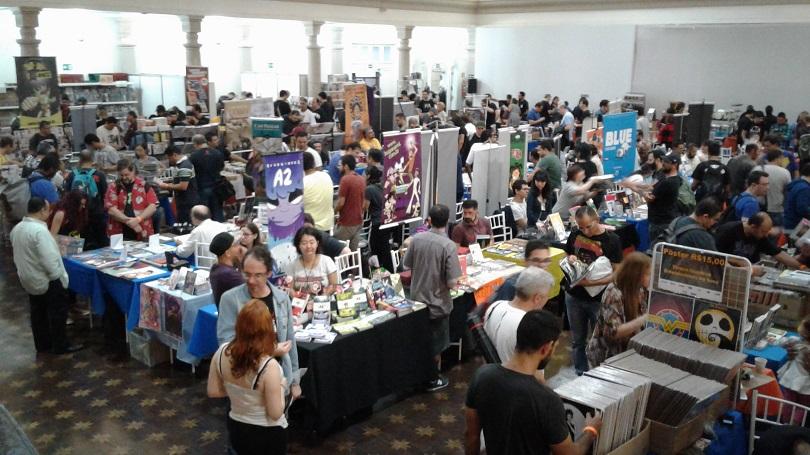 No Festival Guia dos Quadrinhos 2017, você encontra HQs, quadrinistas e amigos. (Foto: Henrique Almeida)