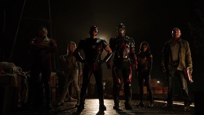 Na 2ª temporada, o time de Lendas do Amanhã é composto por Nuclear, Canário Branco, Cidadão Gládio, Eléktron, Vixen e Onda Térmica. (Foto: The CW)