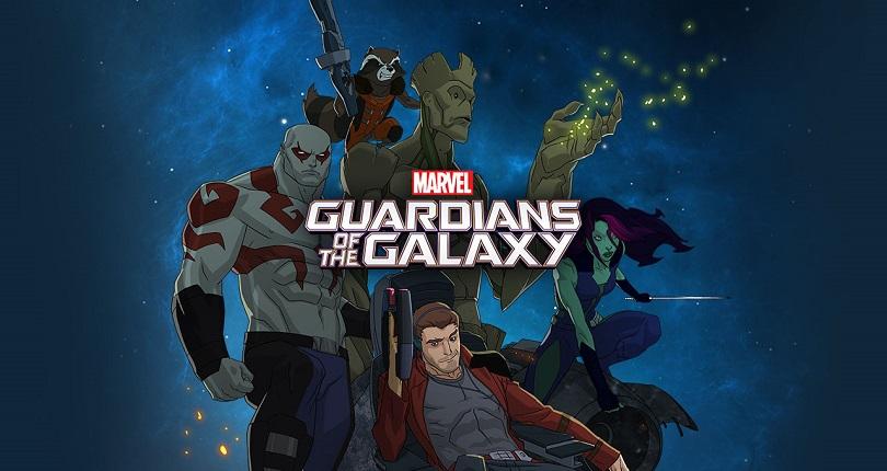 A série animada de Guardiões da Galáxia se adere aos eventos do primeiro filme da saga. (Foto: Disney XD)
