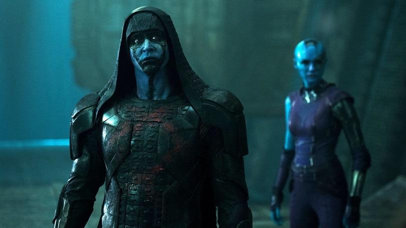 A bordo da nave Dark Aster, Ronan planeja roubar a Joia do Infinito com a ajuda de Nebulosa e Korath (Djimon Hounsou, de Diamante de Sangue). (Foto: Marvel)