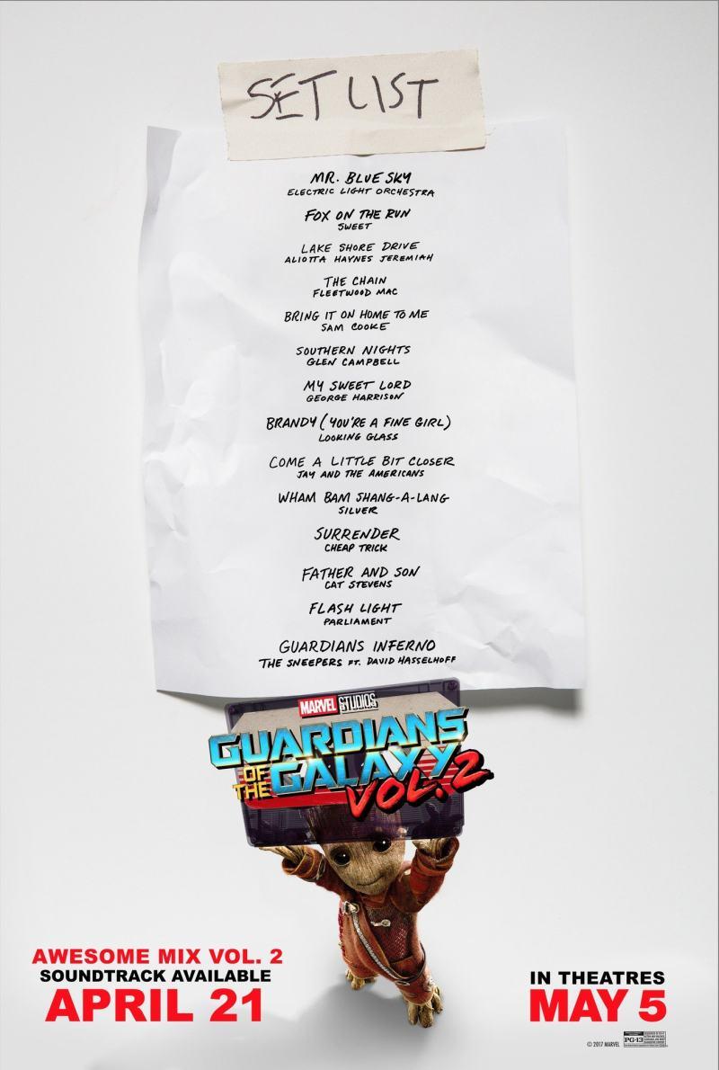 Confira a lista de músicas de Guardiões da Galáxia Vol. 2! (Foto: Marvel)