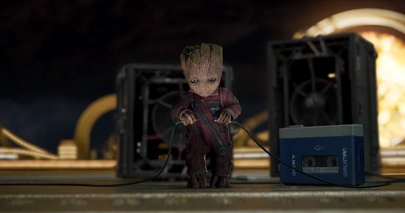Som na caixa, baby Groot! (Foto: Marvel Studios)