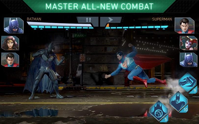 Em Injustice 2 Mobile, não demora muito para Batman e Superman se enfrentarem. (Foto: WB Games)