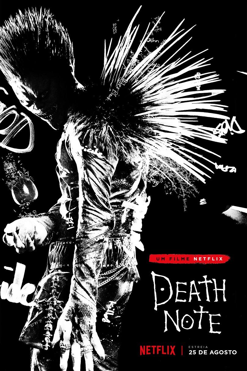 Você pediu, Ryuk atendeu! Olha só o pôster oficial da adaptação de Death Note da Netflix. (Foto: Divulgação/Netflix)