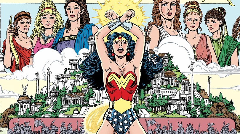 Leitura essencial, a fase de George Pérez organiza o universo da Mulher-Maravilha de forma didática e uma jornada épica. (Foto: DC Comics)