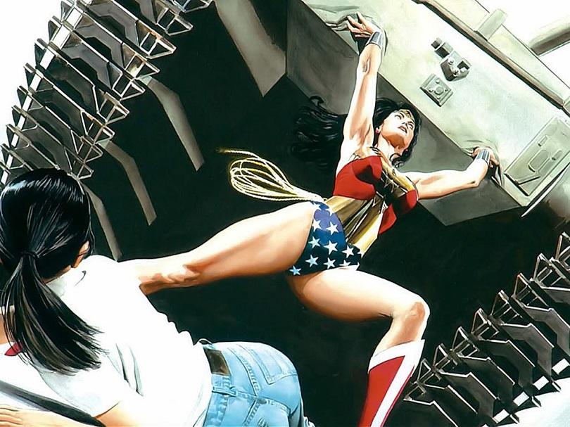 Toda a força de Diana na arte de Alex Ross. (Foto: DC Comics)